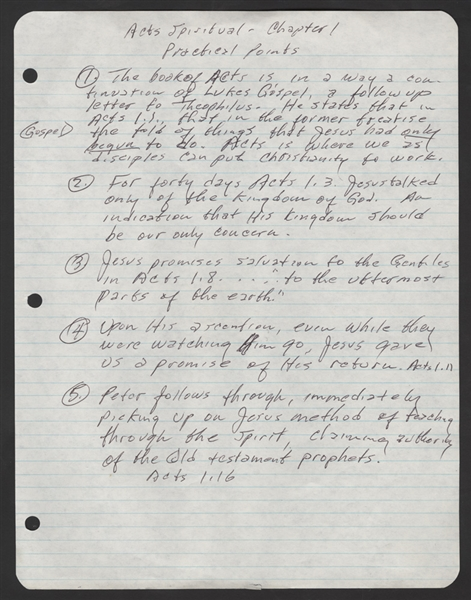 Johnny Cash Handwritten Religious Questionnaire