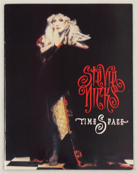 Stevie Nicks Time Space Original Concert Program from the George Worthington Estate