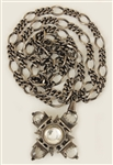 Madonna Owned & Worn Silver Necklace with Pendant Circa Mid-1980s