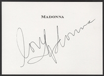 Madonna Signed Personalized Note Card