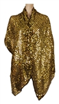 Madonna Owned and Worn  Jean-Paul Gaultier Large Gold Sequined Wrap