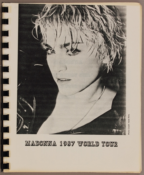 "Madonna ""Whos That Girl"" Original 1987 World Tour Itinerary"