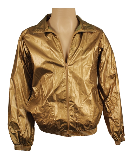 U2 Bono Stage and Personally Worn Andre Van Pier Custom Made Gold Jacket
