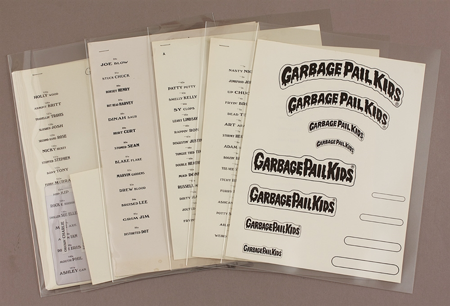 Garbage Pail Kids Original 1st Pressing Uncut Full Set of Trading Cards