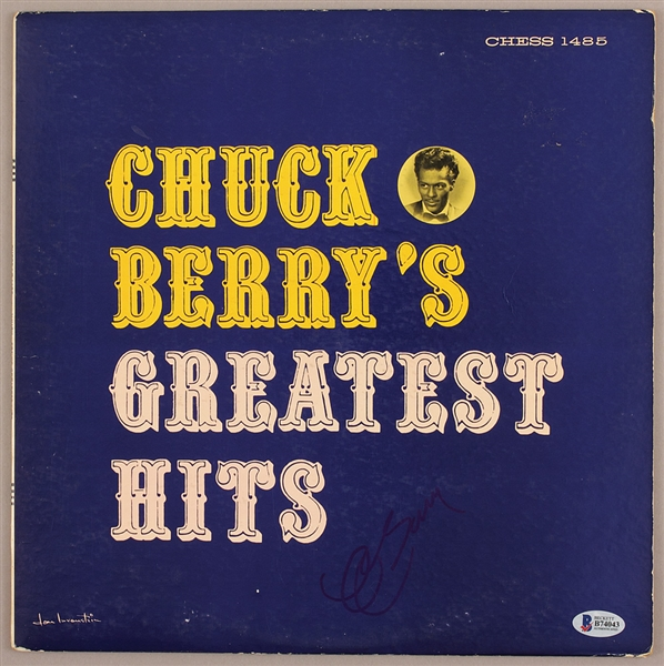 Chuck Berry Signed Greatest Hits Album