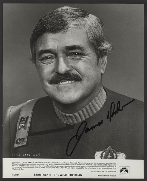 "James Doohan (Scotty) Signed ""Star Trek II: The Wrath of Khan"" Photograph"