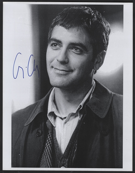 George Clooney Signed Photograph