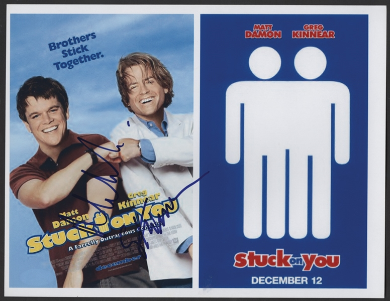 "Matt Damon & Greg Kinnear Signed ""Stuck On You"" Photograph"