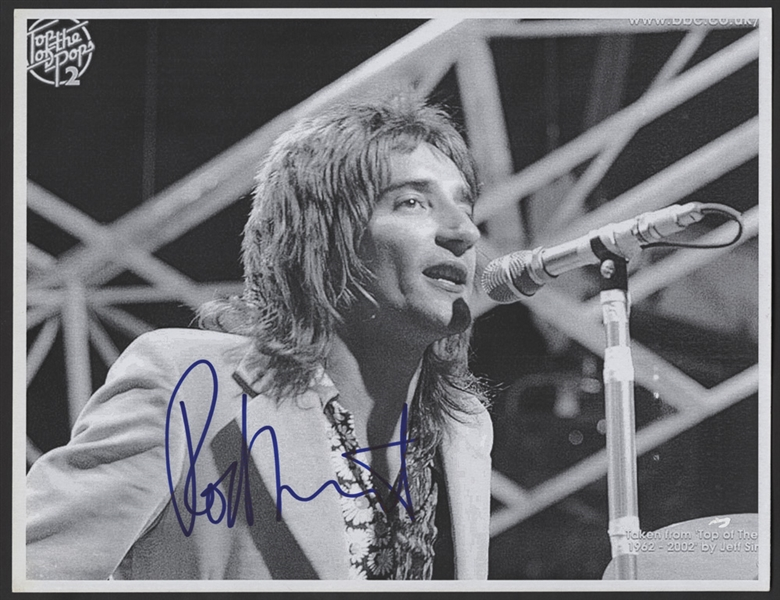 Rod Stewart Signed Photograph