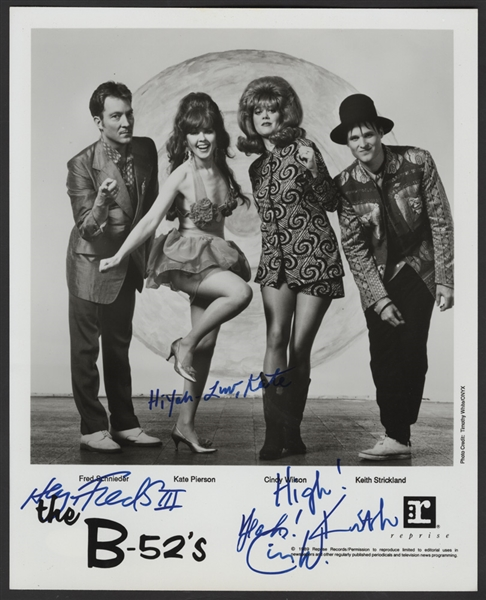 The B-52's Signed Original Publicity Photograph