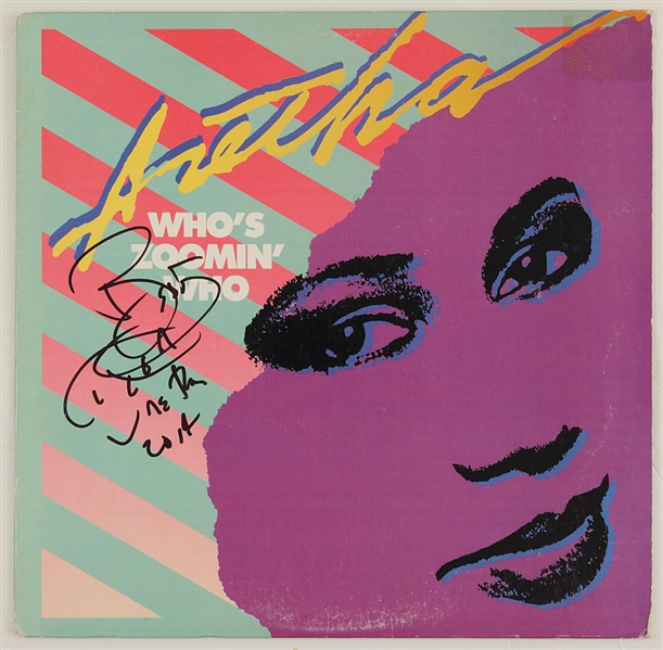 Aretha Franklin Signed Who's Zoomin' Who Album