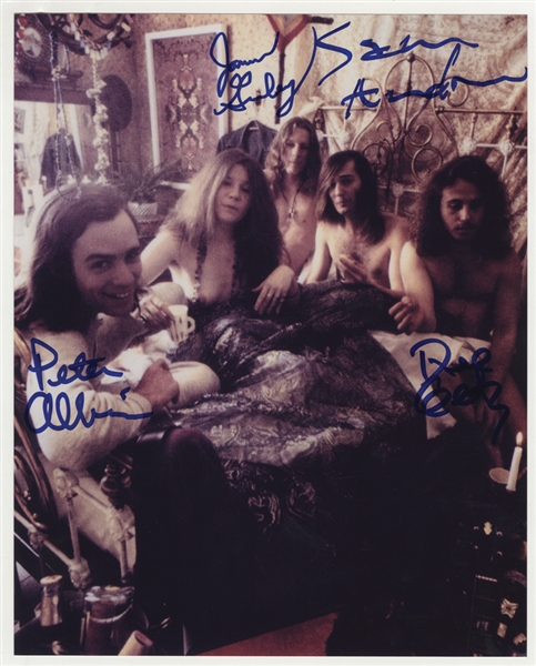 Big Brother and the Holding Company Signed Photograph With Janis Joplin