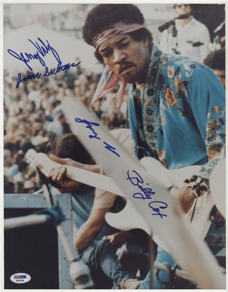 Gypsy, Sun and Rainbows Signed Jimi Hendrix Woodstock Photograph