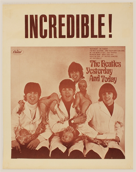 The Beatles Original Yesterday and Today Butcher Cover Promotional Poster