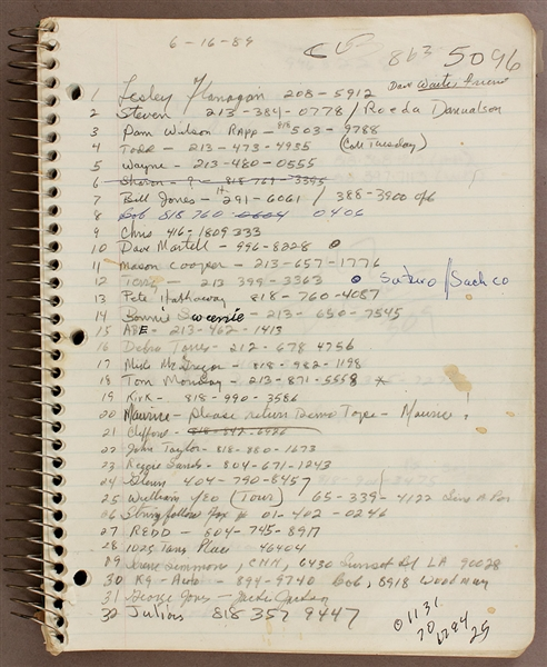 Jackson Family Owned Notebook Filled With Handwritten Notes on Family Business