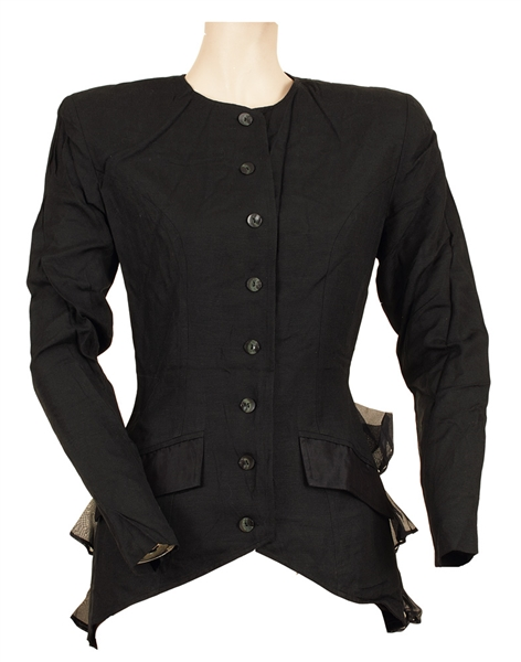 Stevie Nicks Owned and Worn Long Sleeved Black Jacket with Ruffles