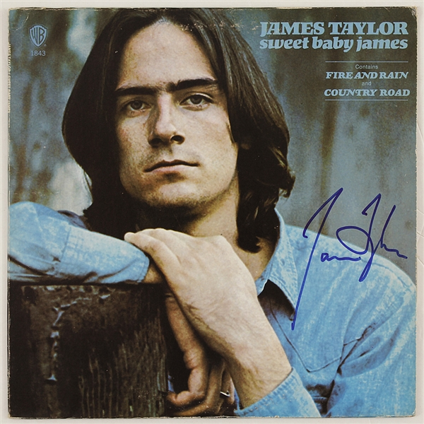"James Taylor Signed ""Sweet Baby James"" Album"
