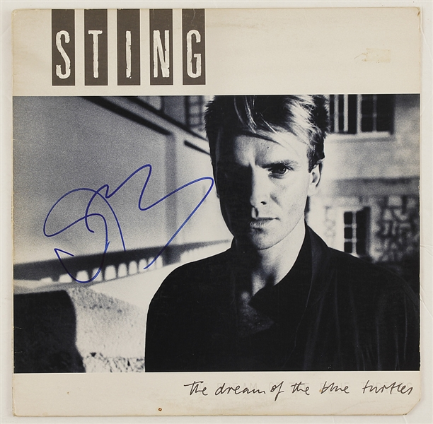 Sting Signed The Dream of the Blue Turtles Album