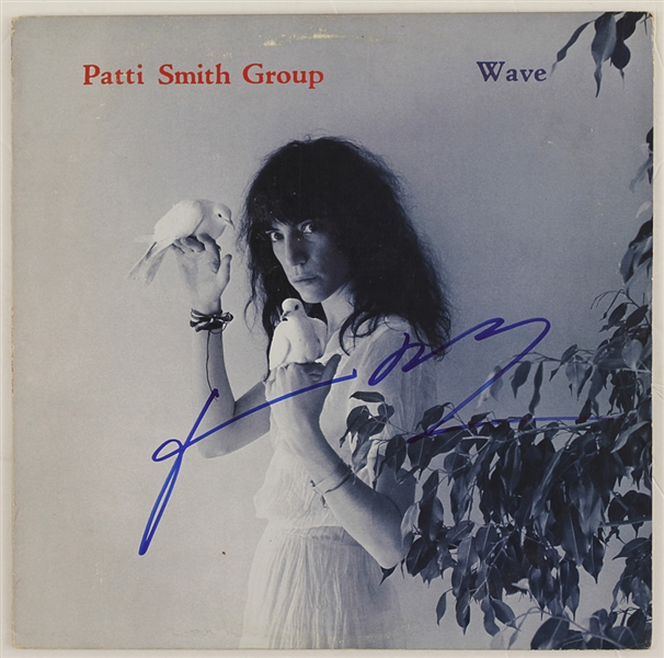 "Patti Smith Signed ""Wave"" Album"
