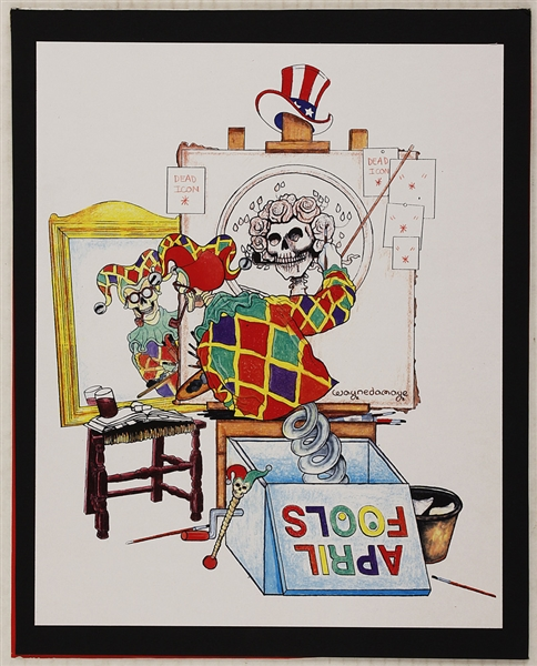 Grateful Dead Original April Fools 94 Artwork by Waynedamage