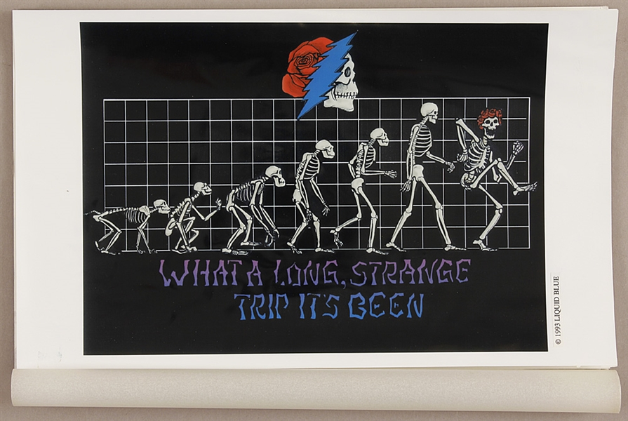 "Grateful Dead Original 1993 ""What  A Long Strange Trip Its Been"" Mock-Up Artwork by David Opie"
