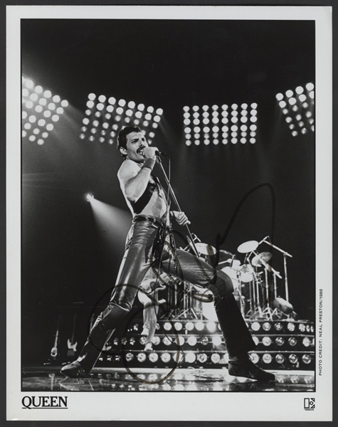 Queen John Deacon Signed Original Neal Preston Promotional Photograph Featuring Freddie Mercury