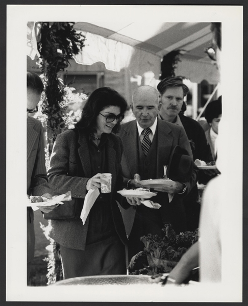 Jacqueline Kennedy Onassis Original Ken Regan Stamped Wire Photograph