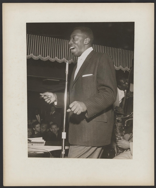 Count Basie Orchestra Featured Vocalist Joe Williams Original Photograph