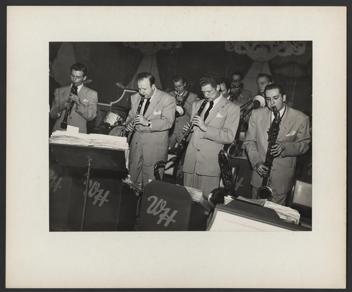 "Four Brothers Famous Sax Team Original William ""POPSIE"" Randolph Stamped Photograph"