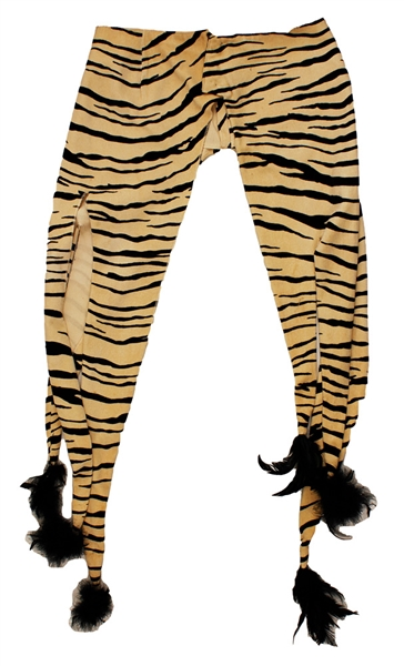 Sly Stone Stage Worn Tiger Striped Chaps