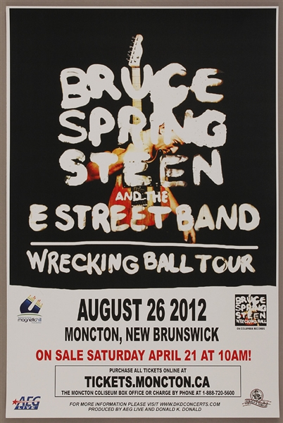 Bruce Springsteen and the E Street Band Original 2012 Wrecking Ball Concert Poster