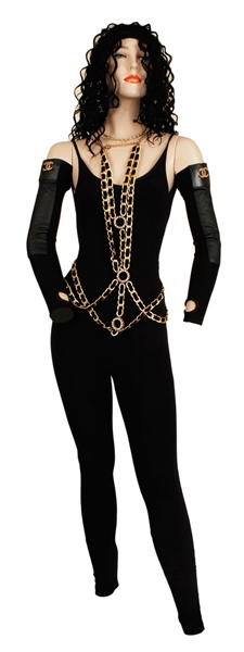 "Nicki Minaj ""Barbershop: The Next Cut"" Screen Worn Jumpsuit, Body Chain, Sleeves and Jewelry"