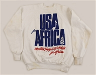 "Michael Jackson Owned and Worn ""USA for Africa, United Support of Artists for Africa"" White Sweatshirt"