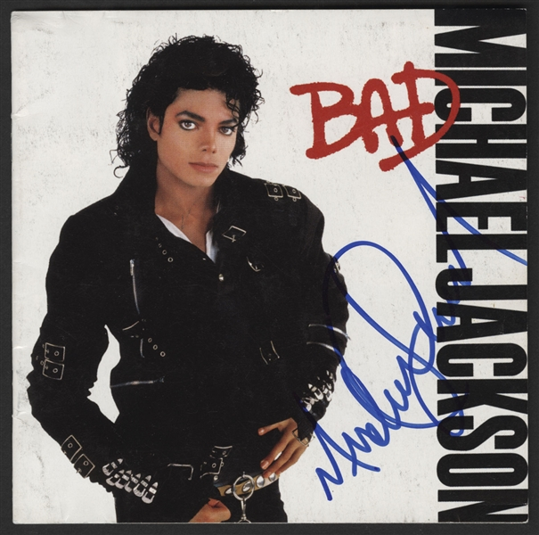 Michael Jackson Signed Bad C.D. Insert