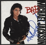 "Michael Jackson Signed ""Bad"" C.D. Insert"