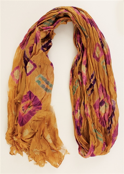 Jimi Hendrix Owned and Worn Scarf from the Herbert Worthington Estate