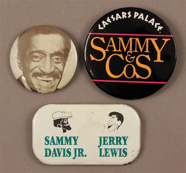Sammy Davis Jr.s Personal Concert Pins Featuring Bill Cosby and Jerry Lewis