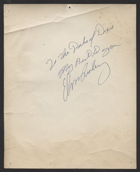 Elvis Presley Signed & Inscribed Original Publicity Photograph