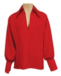 Elvis Presley Owned & Worn IC Costume Company Red Bell-Sleeved Shirt
