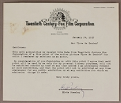 "Elvis Presley Signed ""Love Me Tender"" Acknowledgment of Receipt on Twentieth Century Fox Letterhead"