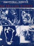 "Rolling Stones Ron Wood & Charlie Watts Signed ""Emotional Rescue"" Sheet Music"