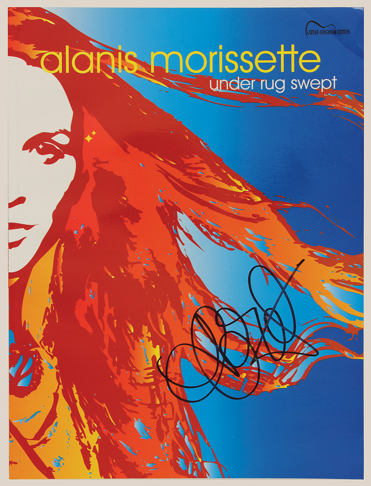 Lot Detail Alanis Morissette S Signed Under Rug Swept