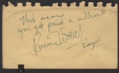 Rolling Stones Ronnie Wood Handwritten and Signed Note