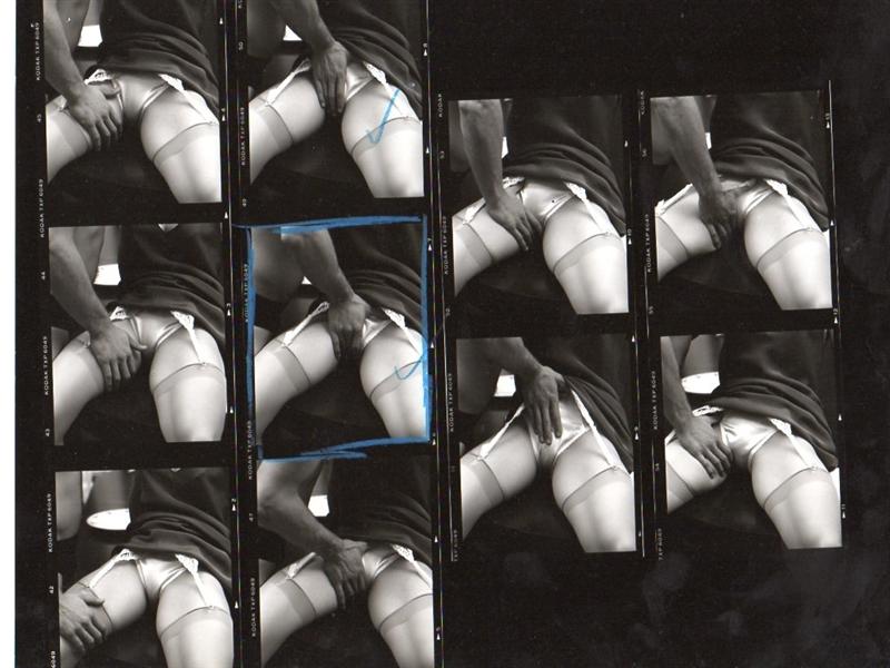 """Madonna Original Hand Annotated Steven Meisel """"Sex"""" Book Photo Shoot Contact Sheet"""
