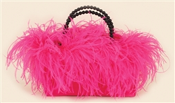 Beyoncé Owned & Used Stunning Pink Feather Handbag