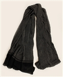 "Stevie Nicks ""Tusk"" Stage Worn Black & Grey Long Scarf from the Herbert Worthington Estate"