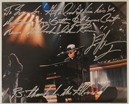 "Elton John ""Madman Across the Water"" Lyrics Inscribed & Signed Photo to Evander Holyfield"