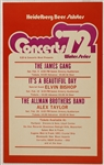 Concerts 72 Original Concert Poster Featuring The Allman Brothers