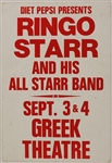 Ringo Starr and his All Starr Band Original Concert Poster