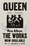 "Queen Brian May and Roger Taylor Signed ""The Works"" Album Promotion Poster"